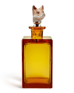 Asprey Fox Amber Decanter