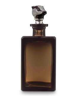 Asprey Badger Smoke Decanter