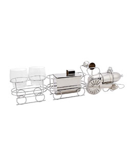 German WMF Metalwork Train Cocktail Set