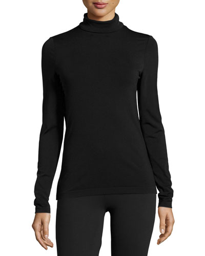 Luxe Turtleneck Pullover, Black