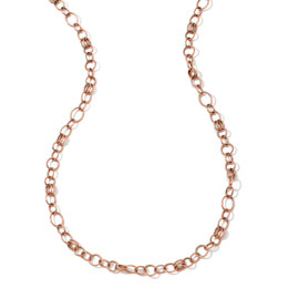 "Ippolita 18k Rose Gold Classic Link Long Chain Necklace, 33""L"
