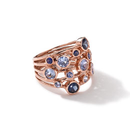 Ippolita 18k Rose Gold Rock Candy Constellation Ring in Blue Sapphire