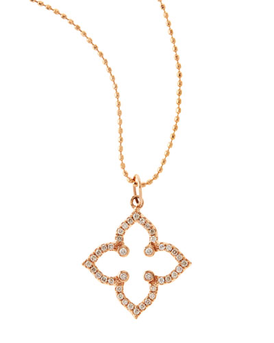 14K Moroccan Star Necklace with Diamonds
