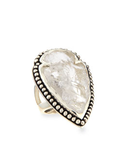 Pamela Love Arrowhead Ring with Clear Quartz