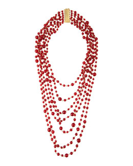Rosantica Pegaso Red Agate 7-Strand Necklace