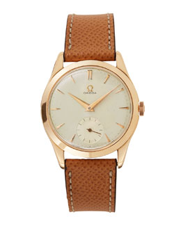 Goodman's Vintage Watches Omega 18k Rose Gold Round Dress Watch, c. 1950s