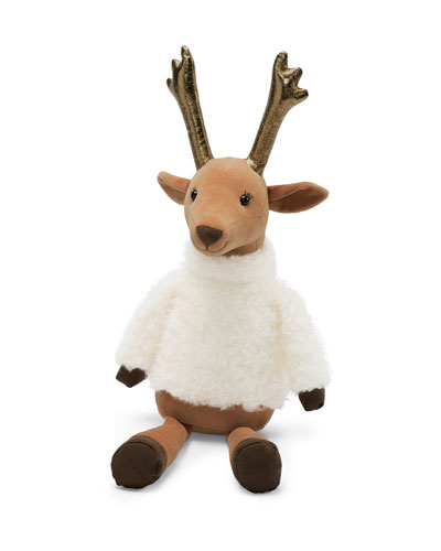 Divine Reindeer Stuffed Animal w/ Metallic Antlers, 19