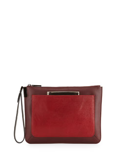 Time's Arrow Ishi Small Wristlet Clutch, Red