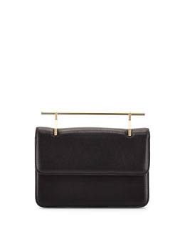 M2Malletier La Fleur Du Mal Leather Bag, Black