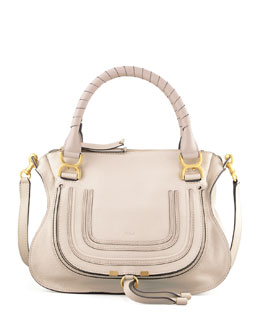 Chloe Marcie Satchel Bag, White