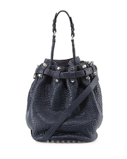 Alexander Wang Diego Studded Bucket Bag, Navy