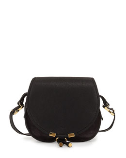 Chloe Marcie Mini Leather Satchel Bag, Black