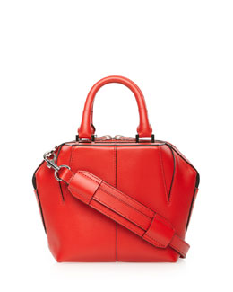Alexander Wang Emile Mini Structured Leather Satchel Bag, Petal