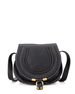 Chloe Marcie Mini Leather Saddle Bag