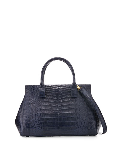 Medium Crocodile Top-Handle Tote Bag