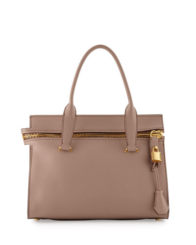 Alix Small Leather Tote Bag