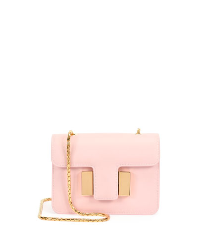 Sienna Chain T-Buckle Bag, Baby Pink