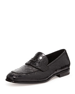 Salvatore Ferragamo Pablo 2 Crocodile Penny Loafer