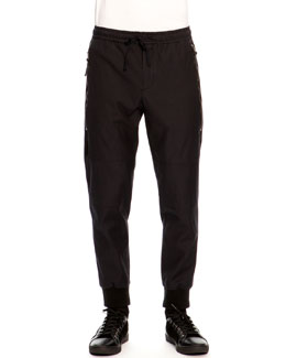 Dolce & Gabbana Jogging Pants with Long Zip Pockets, Dark Blue