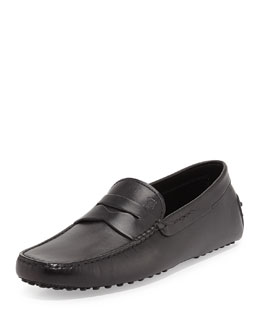 Tod's Leather Penny Driver, Black