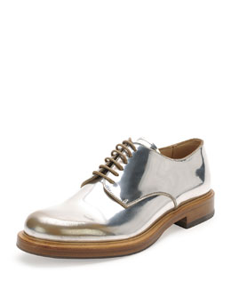 Farraday Metallic Lace Up, Silver/Taupe