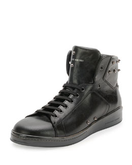 Elgar Studded High-Top Sneaker, Black