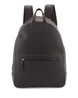 Maison Martin Margiela Matte Leather Backpack, Black