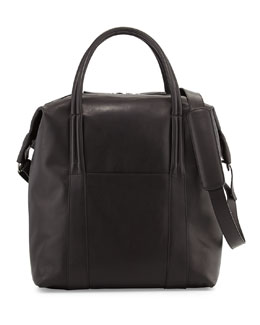 Maison Martin Margiela Men's Leather Zip-Top Tote Bag