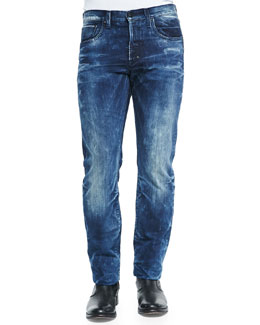 Barracuda Whiskered Denim Jeans, Indigo