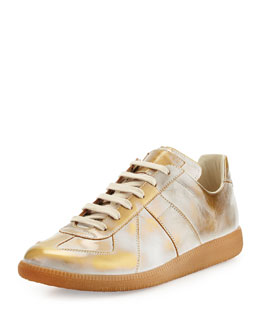 Maison Margiela Replica Gold Burnished Low-Top Sneaker