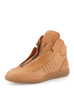 Maison Margiela New Future Leather High-Top Sneaker, Tan