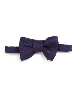 Tom Ford Micro-Check Bow Tie, Purple