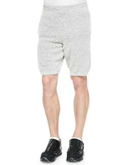 Maison Martin Margiela Cotton-Blend Fuzzy Shorts, Gray