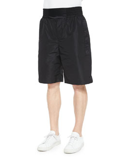 Nylon Boxing Shorts, Black