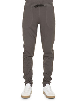 Cotton Drawstring Jogger Pants, Dust