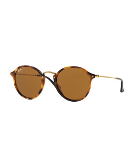 Ray-Ban Vintage Tortoise Round Sunglasses