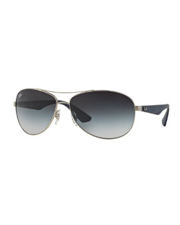 Ray-Ban Wire-Frame Metal Sunglasses, Antique Silver