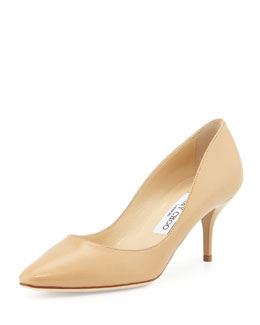 Jimmy Choo Match Leather Pump, Neutral