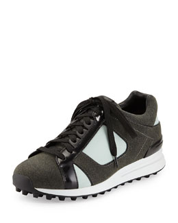 3.1 Phillip Lim Trance Mixed-Media Athletic Sneaker
