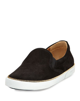 Jimmy Choo Demi Slip-On Skate Sneaker, Black