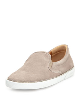 Jimmy Choo Demi Slip-On Skate Sneaker, Gray