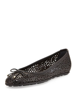 Jimmy Choo Walsh Leather Ballerina Flat, Black