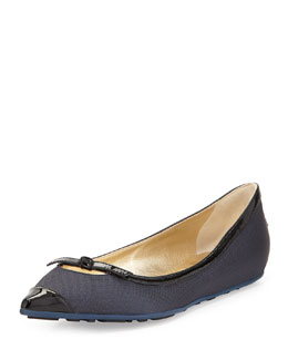 Jimmy Choo Grane Pointed-Toe Ballerina Flat, Black
