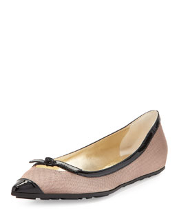 Jimmy Choo Grane Pointed-Toe Ballerina Flat, Rose