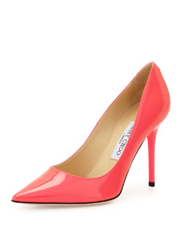 Jimmy Choo Abel Point-Toe Patent Pump, Pink