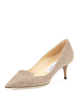 Jimmy Choo Allure Pointed Loafer Pump, Taupe