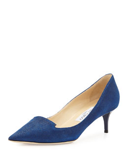 Jimmy Choo Allure Speckled Loafer Pump, Navy