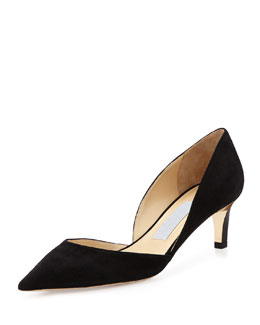 Jimmy Choo Darylin Suede d'Orsay Pump, Black
