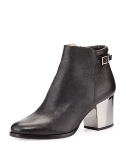 Jimmy Choo Method Napa Leather Bootie, Black