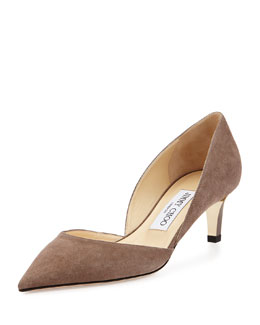 Jimmy Choo Darylin Suede d'Orsay Pump, Gray